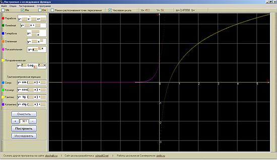 Логарифмическая и показательная функции в Glance