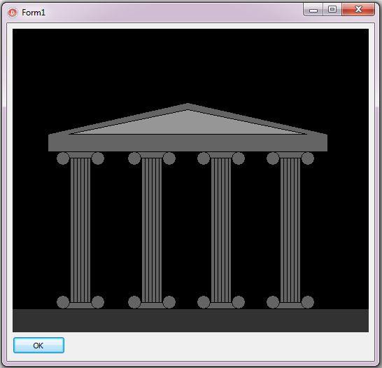 Построение колоннады